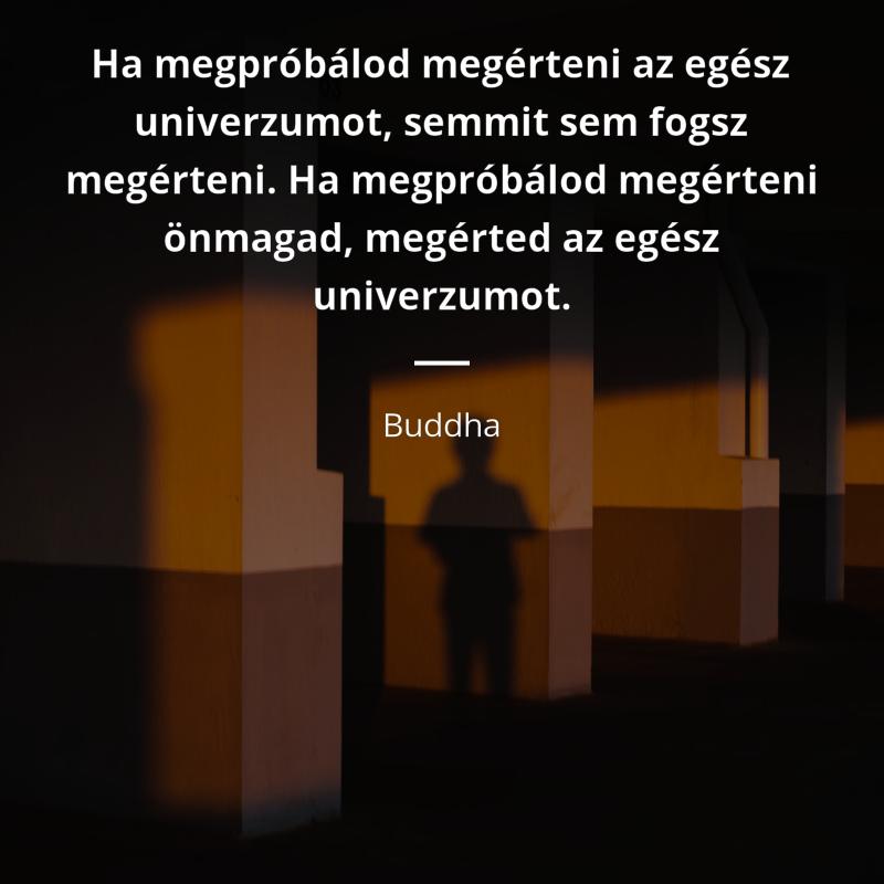 """olasz magyar idézetek Buddha idézet   """"Ha megpróbálod megérteni az egész univerzumot"""
