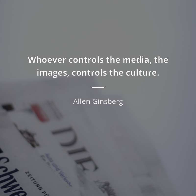 """allen ginsberg idézetek Allen Ginsberg idézet   """"Whoever controls the media, the images"""