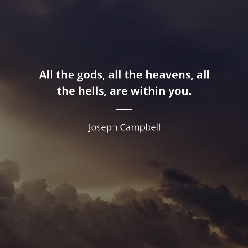 """joseph campbell idézetek Joseph Campbell idézet   """"All the gods, all the heavens, all the"""
