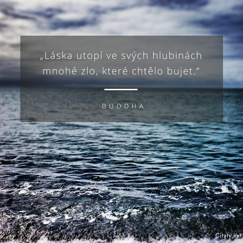 """citaty laska Buddha citát   """"Láska utopí ve svých hlubinách mnohé zlo, které  citaty laska"""