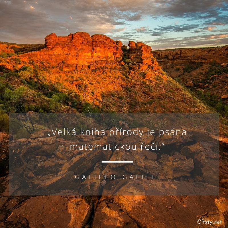 """629b248cf3a Galileo Galilei citát - """"Velká kniha přírody je psána matematickou řečí."""""""